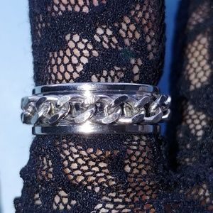 Stainless Steel Spinning Curb Chain Ring